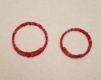 Red Memory Wire Bangle