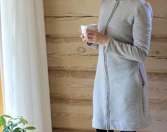 Cosy home dress. Nursing dress. Regular and plus sizes