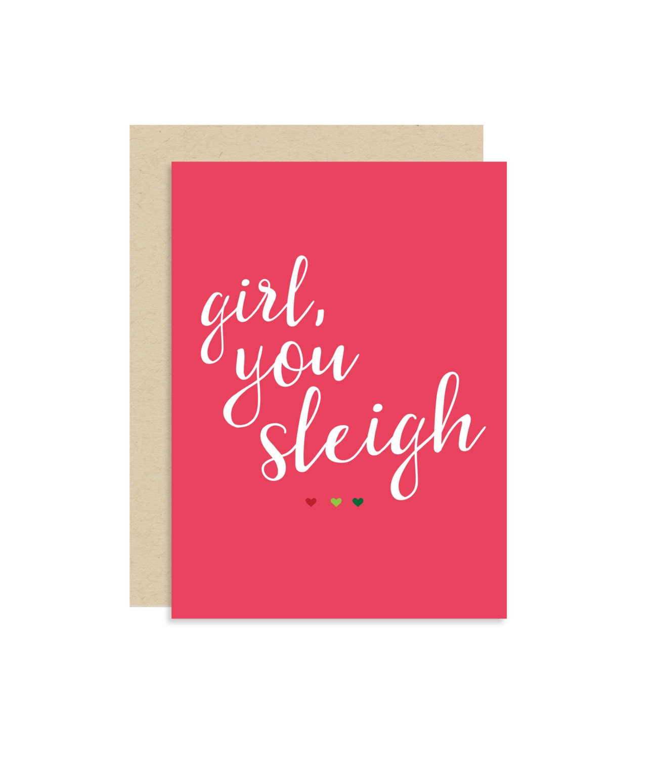 Girl you sleigh christmas holiday seasonal card best zoom kristyandbryce Choice Image