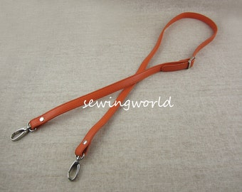 46 inch Adjustable Synthetic Leather Bag Strap in Orange