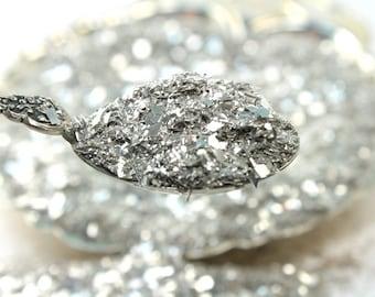 Silver Fusion Multigrain Glitter,Vintage Glitter,Pure Silver,Glass glitter,Craft Supply,Artisan,Decor,Refinished Furniture,Christmas