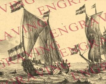 3/1 Sailing ship ship boat vessel Printable JPG Image Digital Download