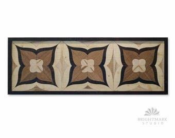 Wood Mosaic Art + Reclaimed Wood ( Decorative Wood Art ) = Vintage Steampunk Decor. Love, Buy, Decorate. Abstract Art & Housewarming Gift