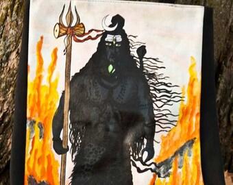 Hand-painted Shiva Tote