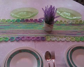 Table Runner Crochet Table Runner Table Cloth Table Decoration Centerpiece Lace Table Runner Home Decor Crochet Table Runner Variegated