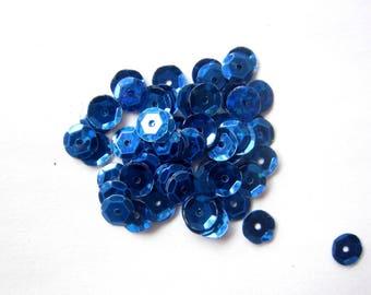 Sequins / ultramarine blue glitter retail packs of 20