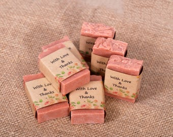 20 soap favors Personalized bridal shower Baby Shower Wedding soap favors Custom soap favors Soap favors Rustic wedding favors Guest soap