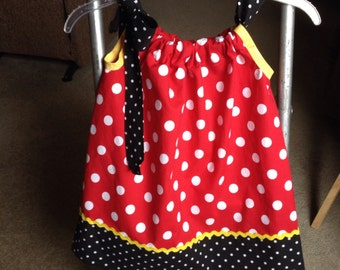 Child Pillow Case Dress,  Disney inspired sun dress, 0 mos-5 years