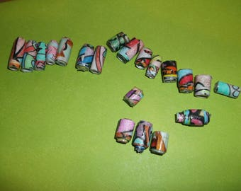 multicolor paper beads