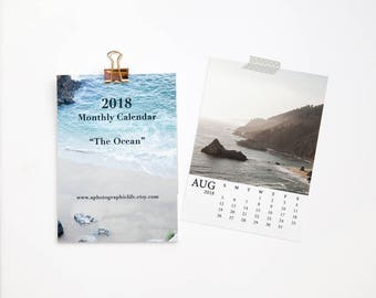 SALE 2018 Ocean Photography Calendar - Nautical Art - Holiday Gift under 25 - Gifts for Guys - Boyfriend Christmas gift