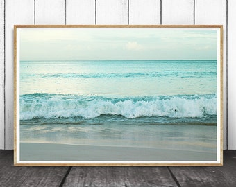 Beach Wall Art, Beach Print, Coastal Wall Art, Coastal Decor, Beach Art, Ocean Waves Print,  Beach Photography,  Wave Art, Wave Wall Art