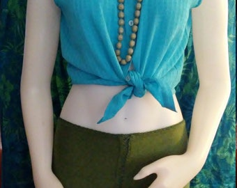 Robins Egg Blue Sleeveless Blouse/ by Charles Richards/Size S/