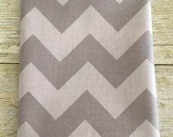 Riley Blake Designs Fabric Two Tone Gray/Grey Medium Chevron C340--Fat Quarter