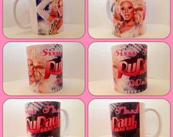 personalised ru paul rupaul drag race sissy that walk glamazon really queen personalised mug