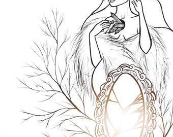 Snow Queen - 2017 - hans christian anderson fairy tale art print