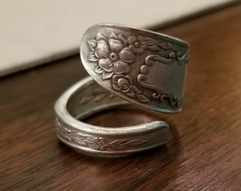 "1936 ""Mildred"" National Silver Co. Spoon Ring"