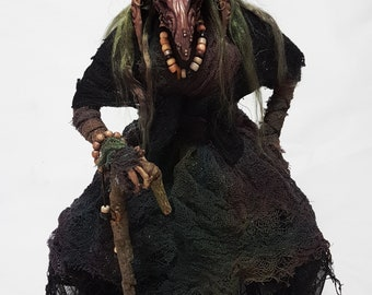 Froud inspired Troll Witch Art Doll