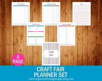 Craft Fair Planner Set - Instant Download PDF Printable
