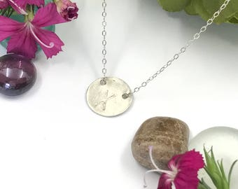 Initial Necklace - Brushed Silver - Monogram - Necklace - Sterling Silver - 16 Inch Chain - 18 Inch Chain - Cable Chain - Mothers Day
