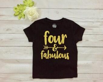 Four Year Old Birthday Shirt |  Birthday Girl Shirt | 4 Year Birthday Shirt | 4th Birthday Shirt | Birthday Girl shirt