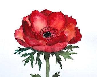 "original flower watercolor painting 11""x15"""