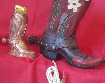 Vintage Cowboy Boot Decor! Original, Unique, very country!