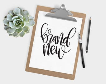 Hand Lettered Word of the Year - Brand New - INSTANT DOWNLOAD