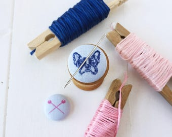 Sewing Pins or Precious Pup magnetic needleminder, embroidery, sewing notion, stitching accessory