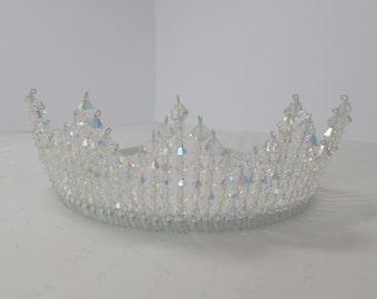 Stunning Bridal Tiara, Wedding Headband, Swarovski Crystal, Bridal Hair Accessories, Statement Headpiece,Elizabeth