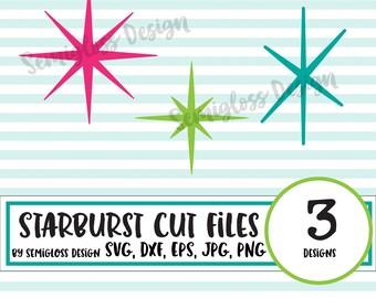 Retro SVG, Retro Stencil, Starburst SVG, Starbursts, Retro Cut Files, Vintage SVG, Cut File, Home Decor Cut Files, Silhouette, Cricut, 1950s