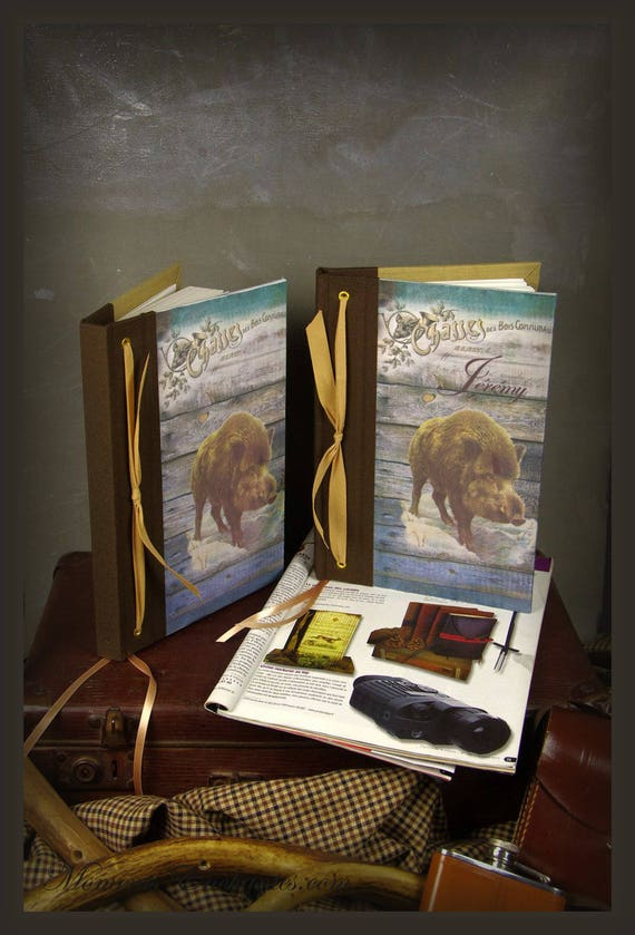 """Personalized hunting book """"boar"""""""