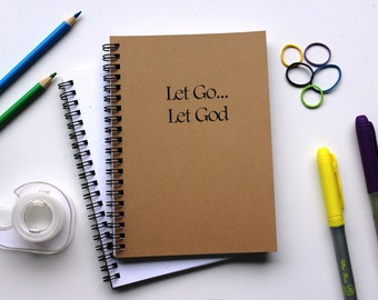 Let Go...Let God - 5 x 7 journal