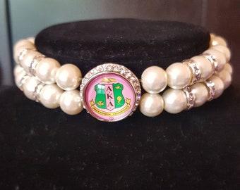AKA Pearl snap bracelet