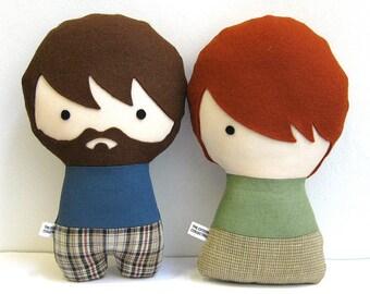 Personalized dolls gift for boyfriend, gift for girlfriend, custom rag doll engagement gift, anniversary gift, custom made dolls, plush doll