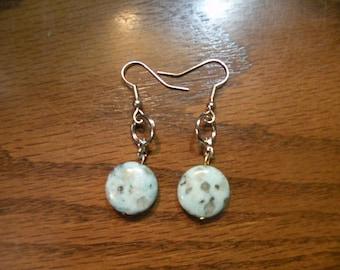 Faux Jade Earrings