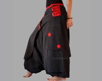 Harem Pants Skirt -  Aladdin Trousers - Afghani - Ali baba - Low crotch