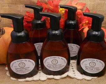 Fall Autumn Liquid Soap in a Foamer Bottle 8 oz Handmade Liquid Soap, Fall scents, hostess gift, kitchen soap, spicy soaps