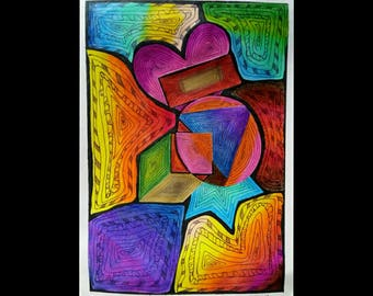 Colourful pattern art