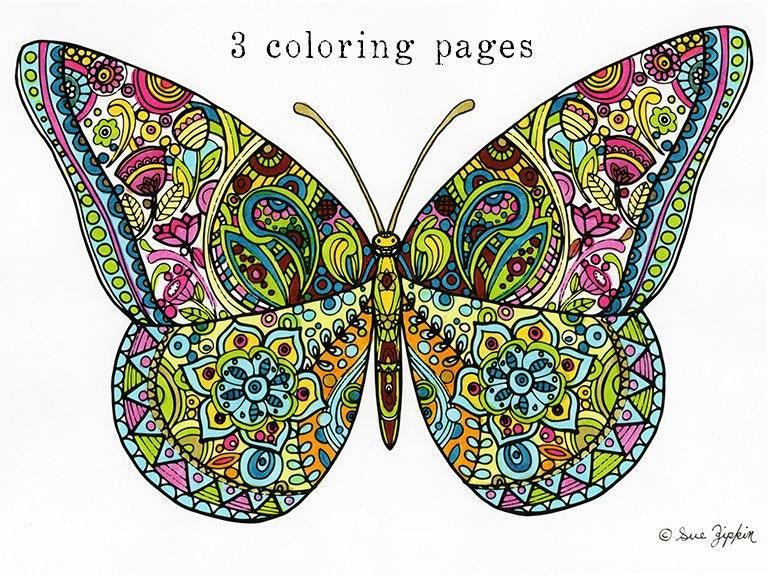 99 Mandala Coloring Pages Butterfly Mandala Coloring