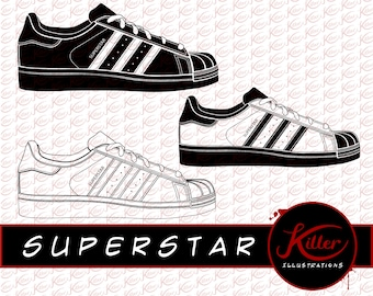 Shelltoe Vector | Superstar Clip Art | Shoes | Cut File| Instant Digital  Download |