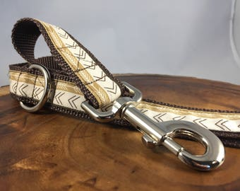 Southwest Dog Leash for Dog - Aztec Dog Leash Aztec - Pet Leashes - Brown Dog Leash Boy Dog Leash Brown - 4' leash - 5' leash