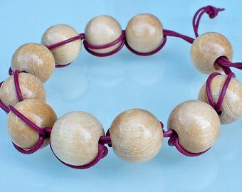 Wooden beads funky bracelet.