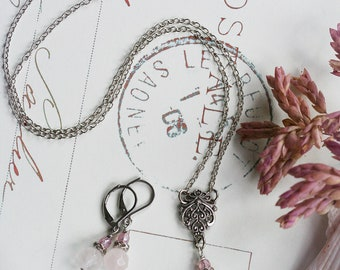 LOVE, TRUST and PIXIEDUST Limited Edition Rose Quartz Love Fairy Necklace and Earrings Set