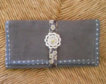 The gray and cotton velvet wrap liberty