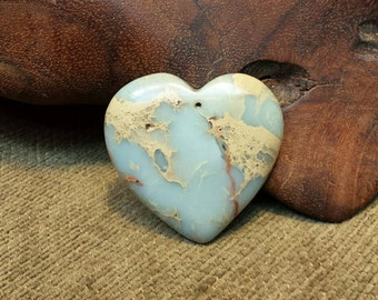 Sale #EarthDay ~ Natural Snakeskin Jasper Heart with Victorian Lace look
