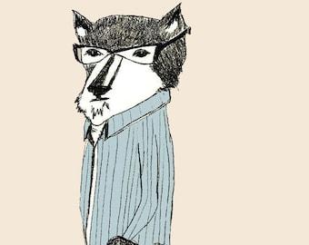 The Thoughtful Guy - Fox Art