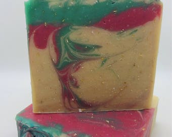 Eucalyptus Mint-Lightly Scented-Handmade Artisan Goats Milk Soap-Cold Process Soap