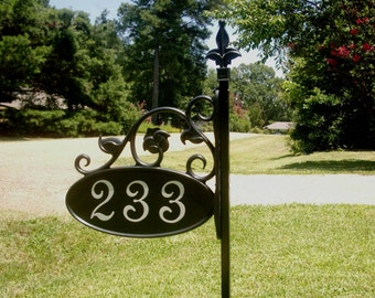 """Park Ave. Yard Sign - 48"""" post"""