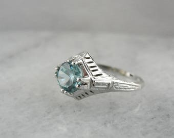 The Sturbridge Blue Zircon Ring from the Elizabeth Henry Collection UE8H3Q-N