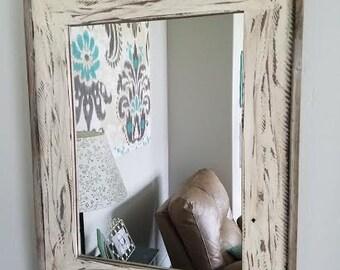 Hand Distressed Alder Mirror